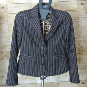 CAbi Joey Blazer 6 Black White Stripes Style #364